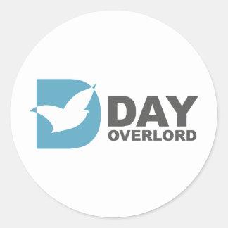 DDay-Overlord Internet Runder Aufkleber