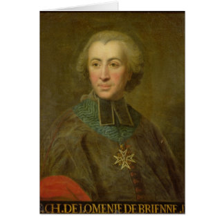 De Brienne Cardinal Etienne-Charles de Lomenie Karte