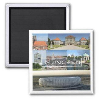 De * Deutschland - München München - Mosaik Quadratischer Magnet