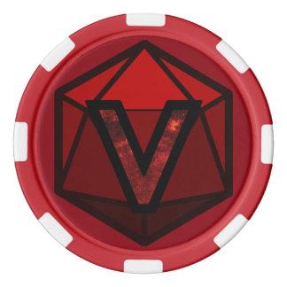 DEADLANDS - Roter Team-Poker-Chip Poker Chip Set