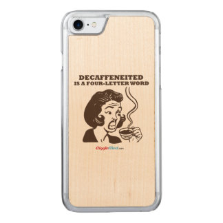 Decaf ist ein Wort 4-Letter Carved iPhone 8/7 Hülle