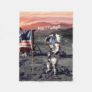 Decke - Hollywood-Mond-Mann-Fleece-Decke Fleecedecke