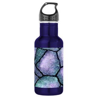 Defektes konkretes Blau Trinkflaschen