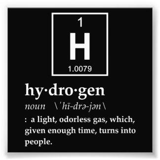 Definition des Wasserstoffs Photos