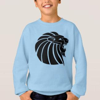 Dekokunsttätowierungs-Silhouette Löwe-Kopf Sweatshirt