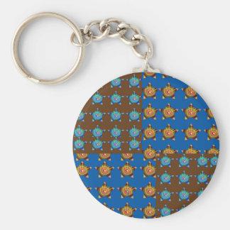Dekorationen Goldstar BlueSTAR: durch NAVIN Joshi Standard Runder Schlüsselanhänger