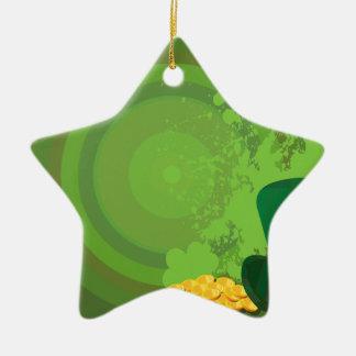 Dekorations-Geschenk-Ideen St. Patricks Tages Keramik Stern-Ornament