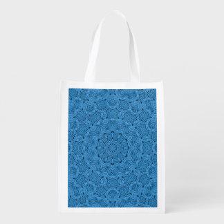 Dekorative blaue Vintage wiederverwendbare Wiederverwendbare Einkaufstasche