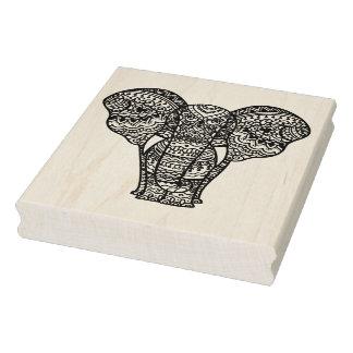 Dekorative Elefant-Art Gummistempel