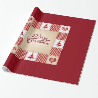 Dekorative frohe Weihnacht-Verzierung elegant im Geschenkpapier
