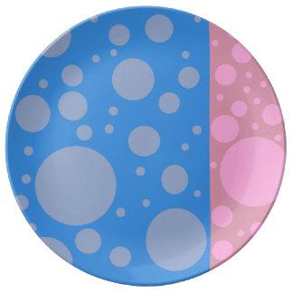 Dekorative Porzellan-Platte der Punkt-27,3 cm Porzellanteller