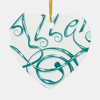 Dekorative Wort-Allergie Keramik Ornament