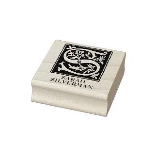 Dekorativer Alphabet-Buchstabe S personalisiert Gummistempel