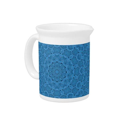 Dekorativer blauer Vintager bunter Krug