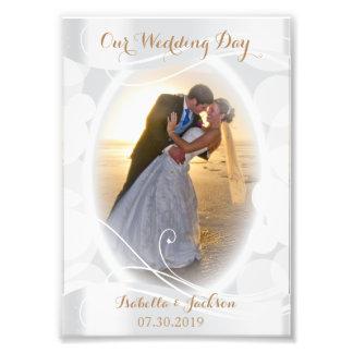 Dekorativer Hochzeits-Tag - Foto-Schablone Fotodruck