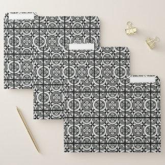 Dekorativer Renaissance-Rosette-Fliesen-Entwurf Papiermappe