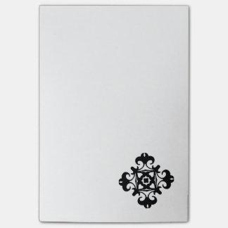 Dekoratives Florette klassisches Schwarzweiss Post-it Klebezettel