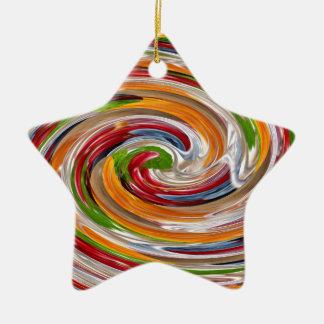 Dekoratives fruchtiges Rotations-Wellen-Muster Keramik Stern-Ornament