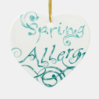 Dekoratives Wort Allergy2 Keramik Ornament