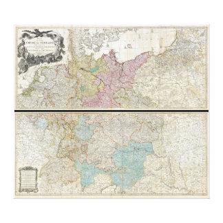 Delarochette Karte 1794 des Reiches von Deutschlan Leinwand Druck