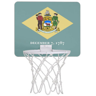 Delaware-Flagge Mini Basketball Ringe