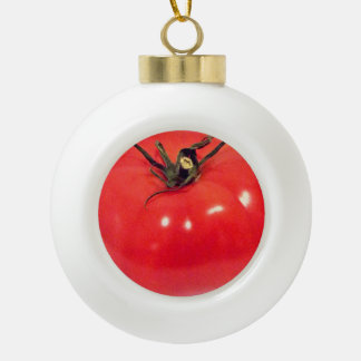 Delish Tomate 4Hansi Keramik Kugel-Ornament