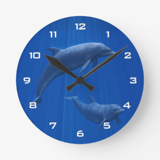 Delphin-Paar-Wanduhr Uhren