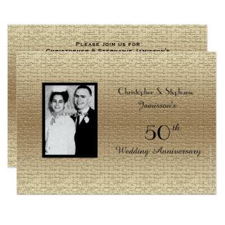 Deluxe 50. Hochzeits-Jahrestags-Foto-Einladung 12,7 X 17,8 Cm Einladungskarte