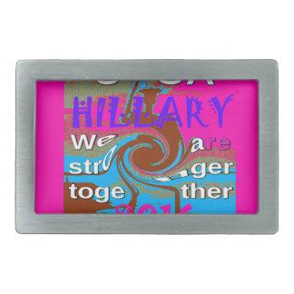Demokraten Hillary für USA Präsidenten We sind Rechteckige Gürtelschnalle
