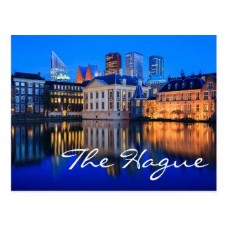 Den Haag Skyline an der blauen Postkarte