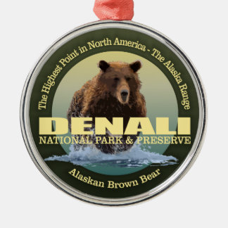 Denali NP (Bär) GEWICHT Silbernes Ornament