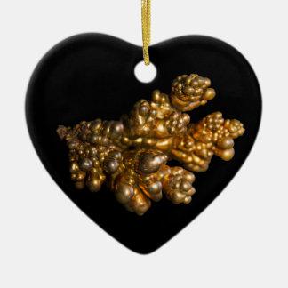 Dendritisches kupfernes Foto auf schwarzem Keramik Ornament