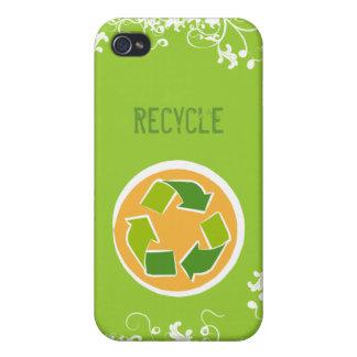 Denke ökologisch-Bewusstseins-glückliches Zitat iPhone 4 Hüllen