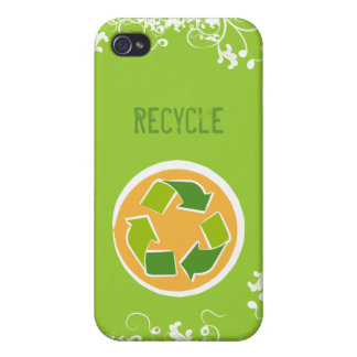 Denke ökologisch-Bewusstseins-glückliches Zitat iPhone 4 Schutzhülle