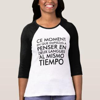 Denken auf französisches und spanisch T-Shirt