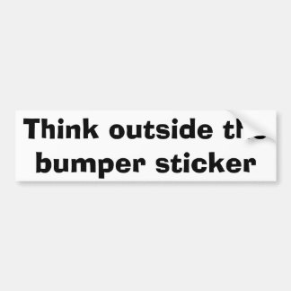 Denken Sie außerhalb des Autoaufklebers Autoaufkleber