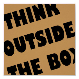 Denken Sie außerhalb des Kasten-lustigen Poster