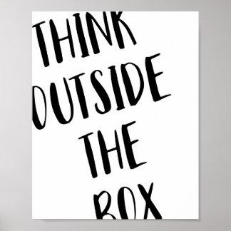 Denken Sie außerhalb des Kasten-Plakats Poster
