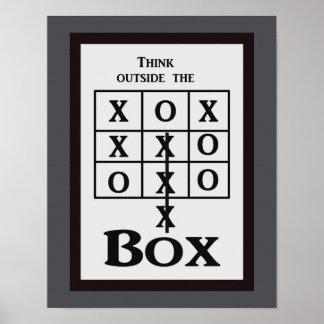 Denken Sie außerhalb des Kastens -- Kunstdruck Poster