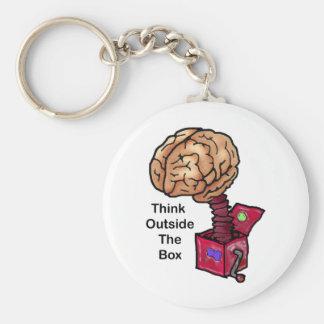 Denken Sie außerhalb des Kastens Standard Runder Schlüsselanhänger
