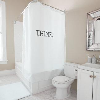 Denken Sie Duschvorhang