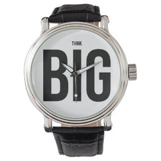 Denken Sie GROSSES Armbanduhr