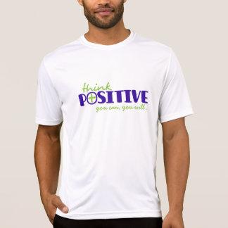 Denken Sie Positiv, das Sie typografischer T-Shirt