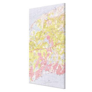 Dennis und Yarmouth Massachusetts Map (1974) Leinwanddruck