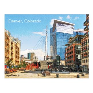 Denver-Jahrtausend-Brücke, Denver, Colorado Postkarte