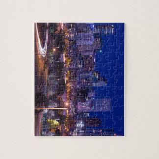 Denver-Skyline nachts - Colorado Puzzle