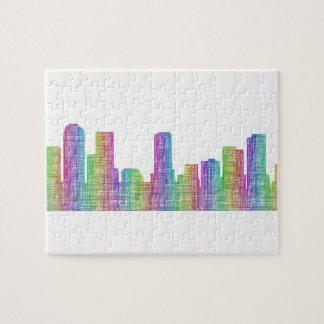 Denver-Stadt-Skyline Puzzle