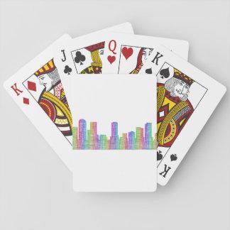 Denver-Stadt-Skyline Spielkarten