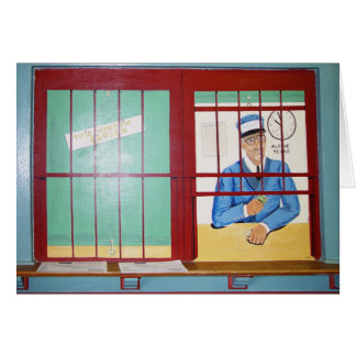 Depot Wandgemälde-Karte Fenster, alpin, TX Karte