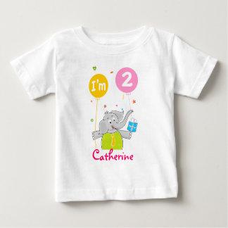 Der 2. Geburtstag des Kleinkindes Baby T-shirt